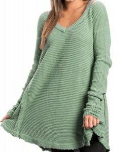 NWT Sage Waffle Knit Sweater